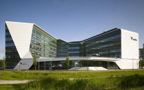 UNStudio creates transparent work environment at mirai house - designboom | architecture