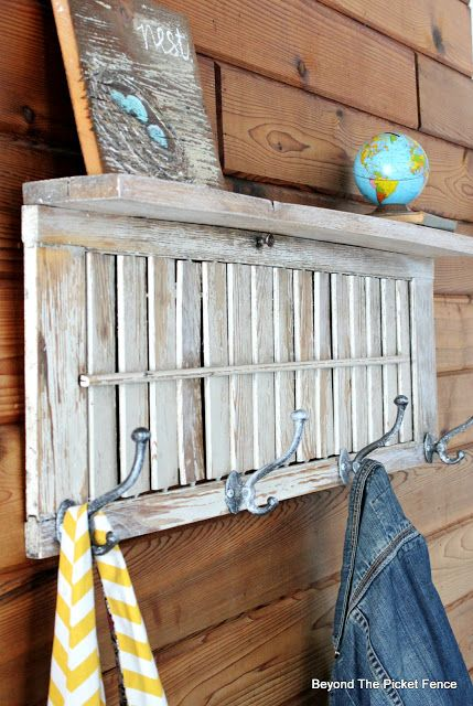 Beyond The Picket Fence Shutter Shelf Shutters Repurposed Diy