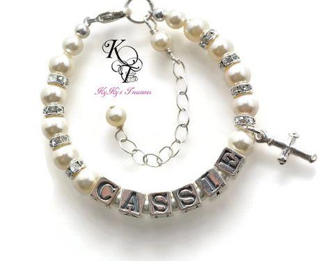 3af9fc2fc907 Personalized Baptism Bracelet