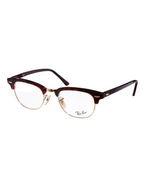 e3dbe934dd966 Ray-Ban Clubmaster Glasses - brown with gold rims
