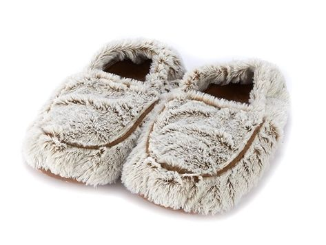 feee6c54e Aroma Home Cream Faux Fur Scented Microwavable Slipper Boots   Feet Warmers    Slipper boots, Slippers, Boots