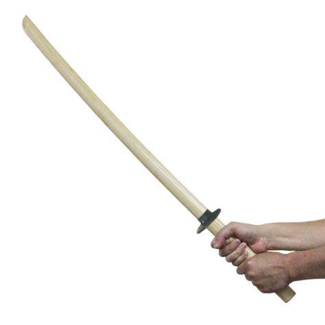 Wooden Sword 80 90 100 Tsuba Sticks Swing Practice Training MMA Kendo Hard Wood