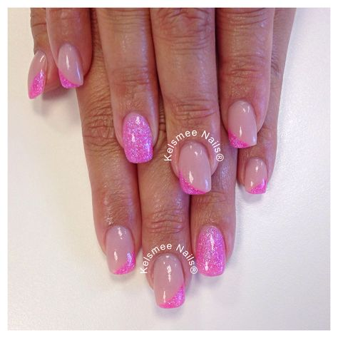 Young Nails acrylic neon pink coverpink