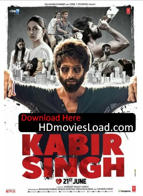 Kabir Singh (2019) Hindi Movie Download & Watch Online DVDScr 700MB