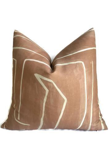 Kelly Wearstler Graffito Pillow Cover In Salmon Cream Kelly Wearstler Pillow Covers Designer Pillow