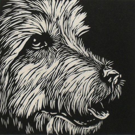Dog Linocut Print - Folksy