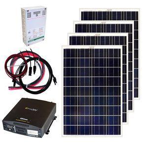 Grape Solar 400 Watt Off Grid Solar Panel Kit Solar Panel Kits Off Grid Solar Off Grid Solar Panels