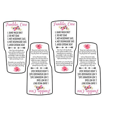 Tumbler Care Instructions Printable Free Svg Print Yahoo Search Results Image Search Results Free Printables Tumbler Cups Diy Tumbler