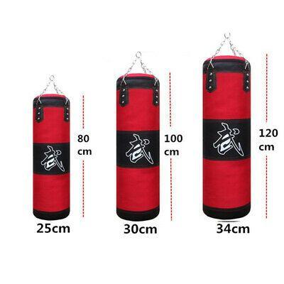 Heavy Boxing Punching Bag Training Gloves Hook Chain Bandages Workout Set Boxer