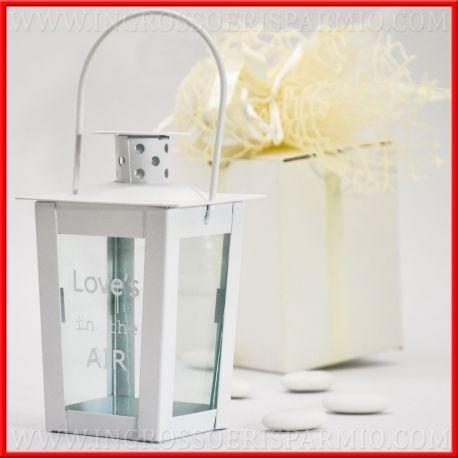 Lanterne Bomboniera Matrimonio Bianche Con Frase Idee Lanterne Portacandele Lanterna