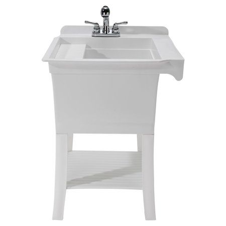 Cashel The Maddox Fully Loaded Utility Sink Kit Workstation With Faucet Walmart Com Utility Sink Sink Wash Tub Sink