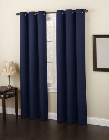 918 Montreal Grommet Curtains Navy Curtains Walmart Grommet