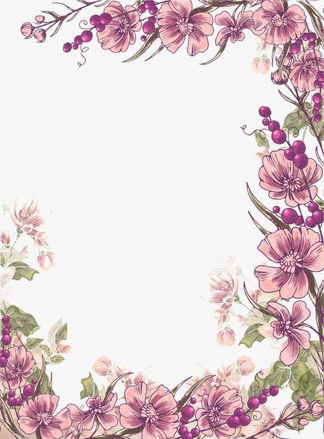 Tinta Flores Purpura Frontera Fondo Flor Frontera Clipart Pintado A Mano Tinta Png Y Psd Para Descargar Gratis Pngtree Flower Border Purple Flowers Wallpaper Flower Background Wallpaper