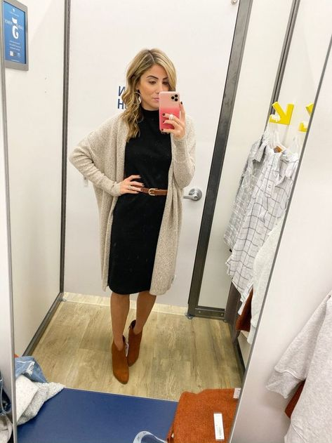 black dress Outfits - October Old Navy Try On - Lauren McBride Fall Outfits For Work, Casual Work Outfits, Work Casual, Cute Outfits, Fall Work Fashion, Black Work Outfit, Old Navy Outfits, Winter Teacher Outfits, Teen Fashion
