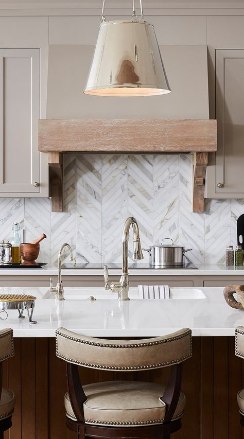 Marble Calacatta Gold Chevron Backsplash Tile - - Well know - Luxury Look! - Calacatta Gold Marble Tile, backsplash, countertop or bathroom shower design. Farmhouse Kitchen Cabinets, Kitchen Cabinet Colors, Kitchen Colors, Kitchen Tiles, Kitchen Backplash, Kitchen Decor, Building Kitchen Cabinets, Diy Kitchen, Interior Design Blogs