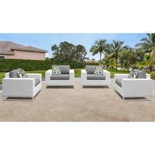 Miami 4 Piece Outdoor Wicker Patio Furniture Set 04a Terracotta