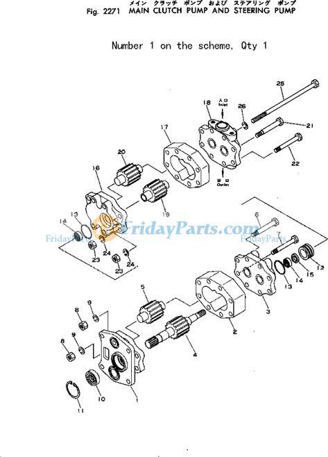 For Komatsu Bulldozer D50A-16 D50P-16 D50PL-16 Hydraulic