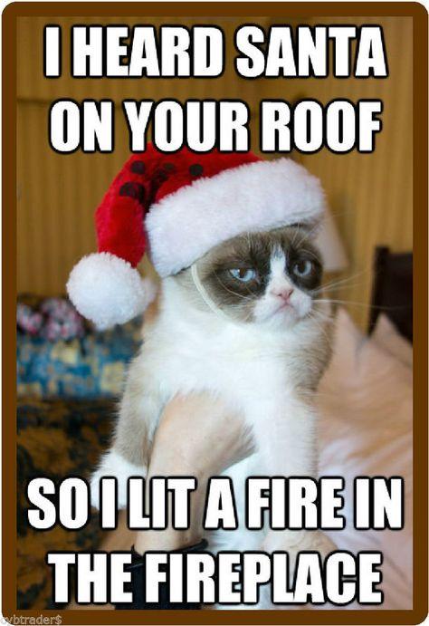 Funny Grumpy Cat Santa Clause Fire Roof Refrigerator Locker Magnet Ebay Grumpy Cat Humor Grumpy Cat Christmas Grumpy Cat