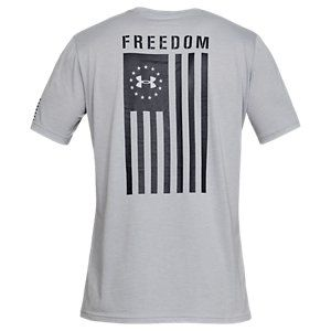 Under Armour Freedom Flag Live T Shirt For Men Steel Medium Heather Black S Tactical T Shirts Freedom Shirts Mens Tshirts