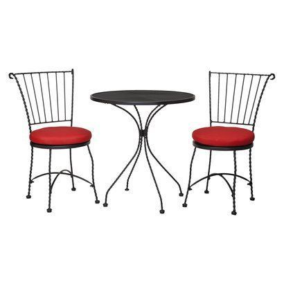Target Home Piazza 3 Piece Wrought Iron Patio Bistro Furniture