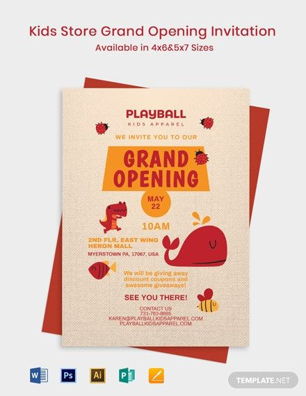 Free Restaurant Grand Opening Invitation Template Word Psd Apple Pages Illustrator Publisher Grand Opening Invitations Grand Opening Invitation Template