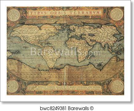 Antique Map Of The World Antique Map Antique Maps Free Art Prints