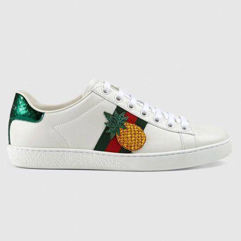 Gucci Ace Ayakkabi Beyaz 1 Gucci Gucciace Ayakkabi Gucci Ayakkabilar Deri