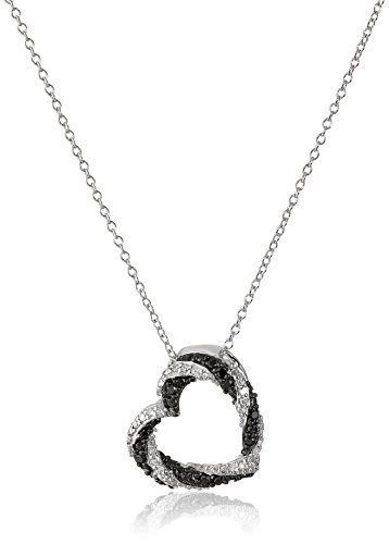 Jewelry Necklaces Necklace with Pendants Sterling Silver Black and White Diamond Pendant