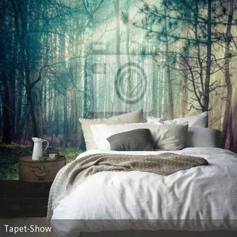 Fototapete Wald im Schlafzimmer u2026 Wohnen Pinterest Bedrooms - fototapete wald schlafzimmer