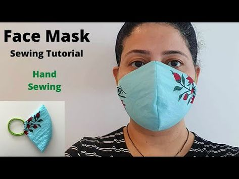 HOW TO MAKE A FACE MASK WITHOUT SEWING MACHINE | Easy Sew Mask with Hair Ties - YouTube