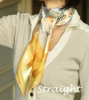 骨格診断ストレート ウェーブ ナチュラル タイプ別シルクスカーフの巻き方選び方 スカーフの巻き方 シルクスカーフ ファッション