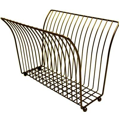 Style Study Victorian V Shaped Magazine Rack Color Oil Rubbed