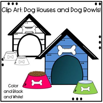 Dog House And Dog Bowls Clip Art Dog Bowls Clip Art Dogs