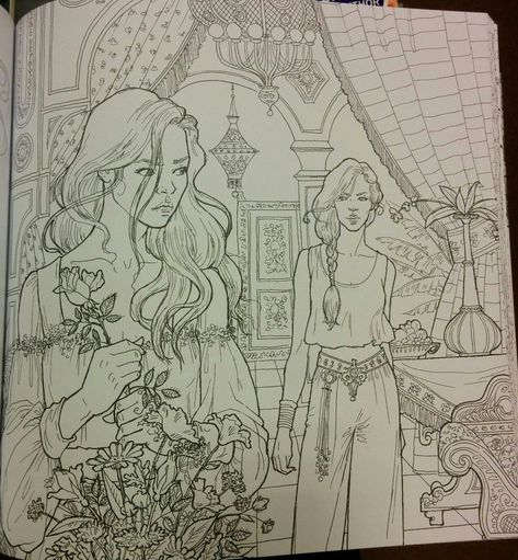 24 Court Of Thorns And Roses Coloring Book In 2020 Coloring