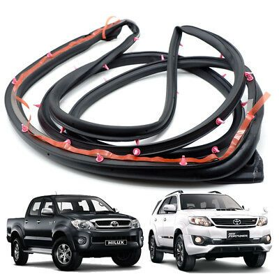 Front Lh Weatherstrip Door Rubber Seal For Toyota Hilux Vigo Fortuner 4dr 05 13 Ebay In 2020 Toyota Hilux Door Weather Stripping Toyota