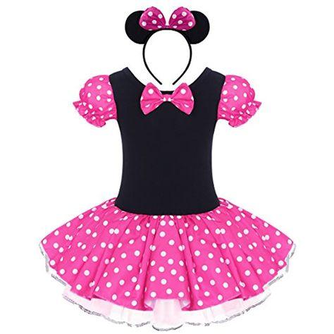 Abiti Da Cerimonia 12 Mesi.Costume Per Halloween O Carnevale Da Minnie Per Bambina Polka Dots