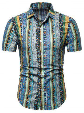 Jacquard Print Short Sleeve Shirt Short Sleeve Shirt Cool Shirts For Men Casual Shirts For Men