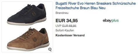 Bugatti River Evo Herren Sneakers Schnürschuhe Freizeitschuhe Braun Blau Neu