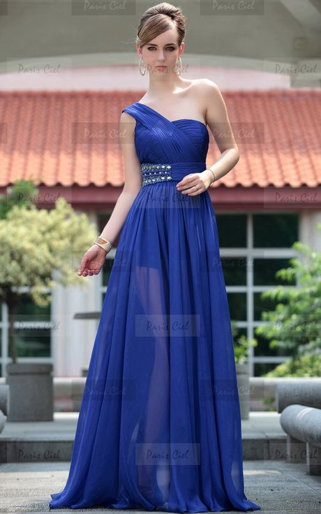 Vestidos De Noche Azul Electrico En 2019 Vestidos Azul Rey