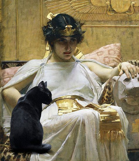 Cleopatra and Her Cat, Beketaten Print or Digital Photo File It makes sense to me that Cleopatra had a cat--probably had a cattery of them since they at the time were considered sacred. In fact, two f