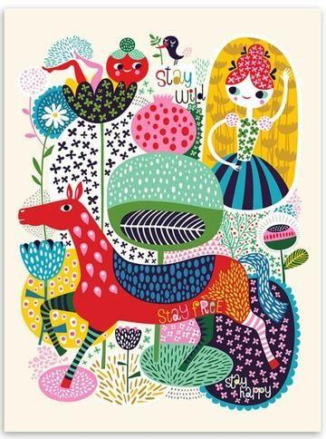 Children S Bright Boho Animal Art Prints Art Animal Art Prints Prints