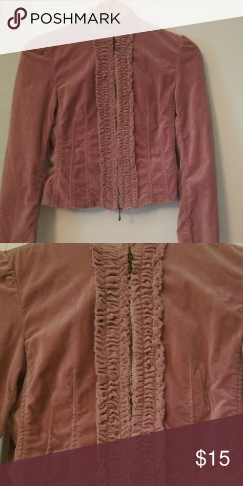 a15714980e03d7 Dinner jacket Mauve. Looks like velvet (98% cotton 2% spandex) double  zipper closer Super flattering on. Slight vintage feel to it Express  Jackets & Coats ...
