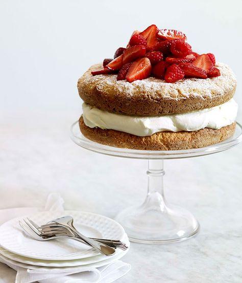 Berry and lemon crème fraîche shortcake - Gourmet Traveller
