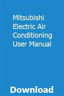 Mitsubishi Electric Air Conditioning User Manual Mitsubishi Air