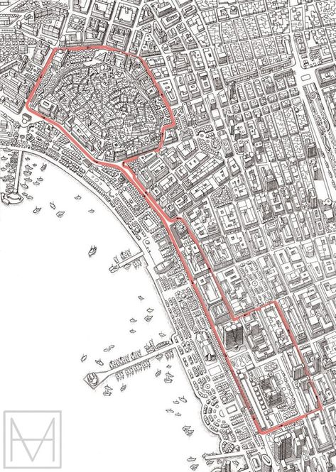 I Came Across This Cool Map Of The Baku City Circuit Artist Is Mike Hall Formula1 Circuit Drawing Baku City Baku