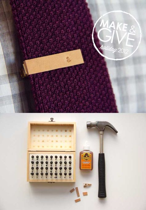 make and give // diy stamped leather tie clip » Lovely Indeed