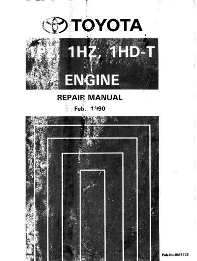 New Post Pdf Online Toyota 1hd 1hz 1pz T Engine Service Repair Manual Rm172e Has Been Published On Procarmanuals Repair Manuals Engine Repair Car Tuning