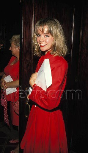 1988 Kristina Malandro General Hospital Soap Opera Red Dress Blonde Hair  Frisco and Felicia