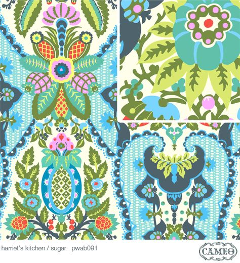 *OOP CAMEO amy butler cameo harriet/'s kitchen sugar quilting fabric