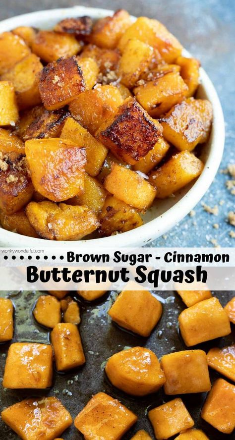 Oven Roasted Butternut Squash + Brown Sugar